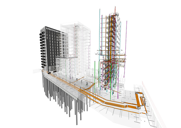 Vectorworks rendering of Pontoon Dock by Assael Architecture